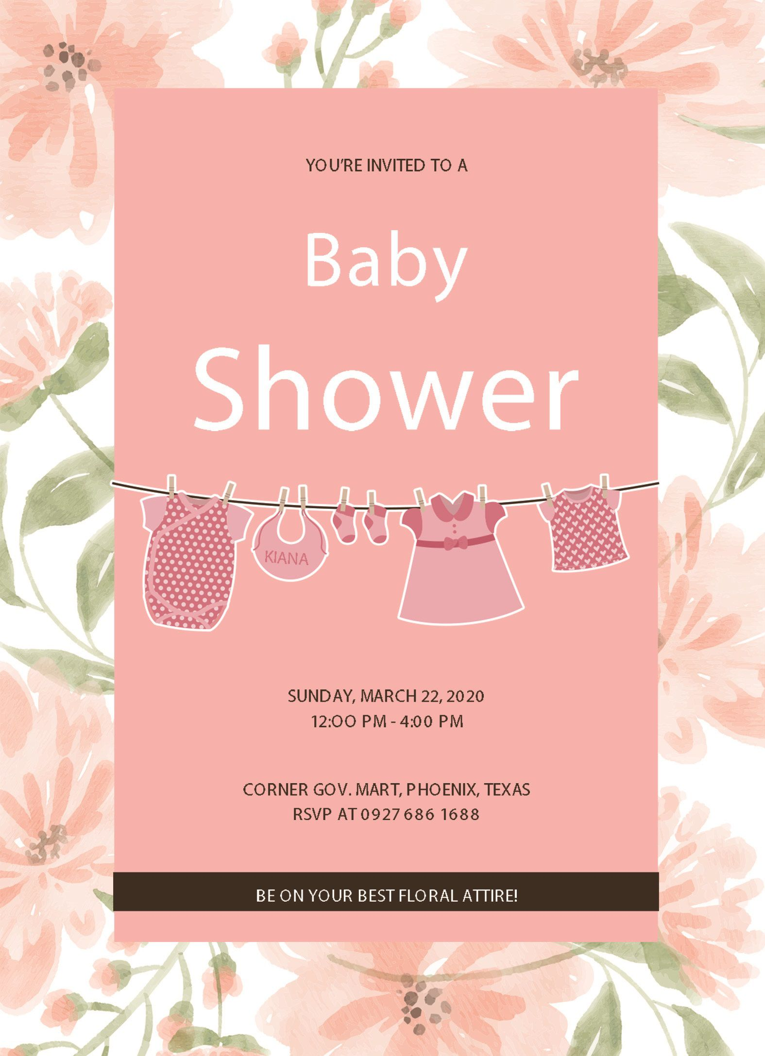 004 Stirring Free Baby Shower Invitation Template Editable High Def  Digital Microsoft WordFull