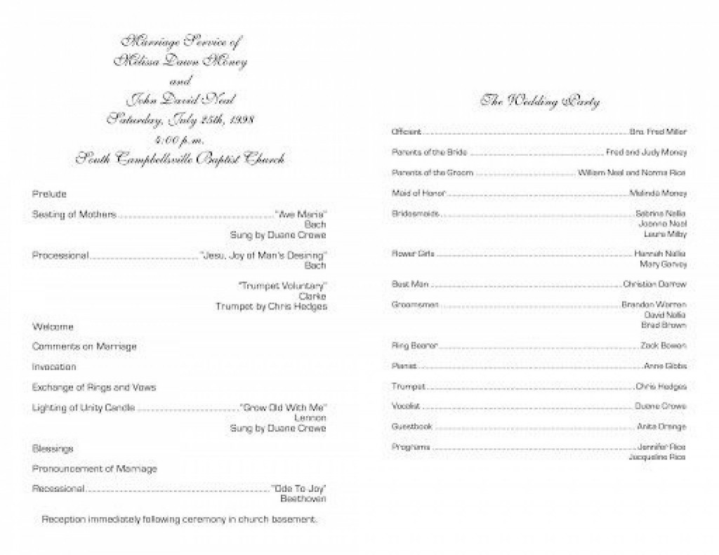 004 Stirring Free Church Program Template Doc Design Large