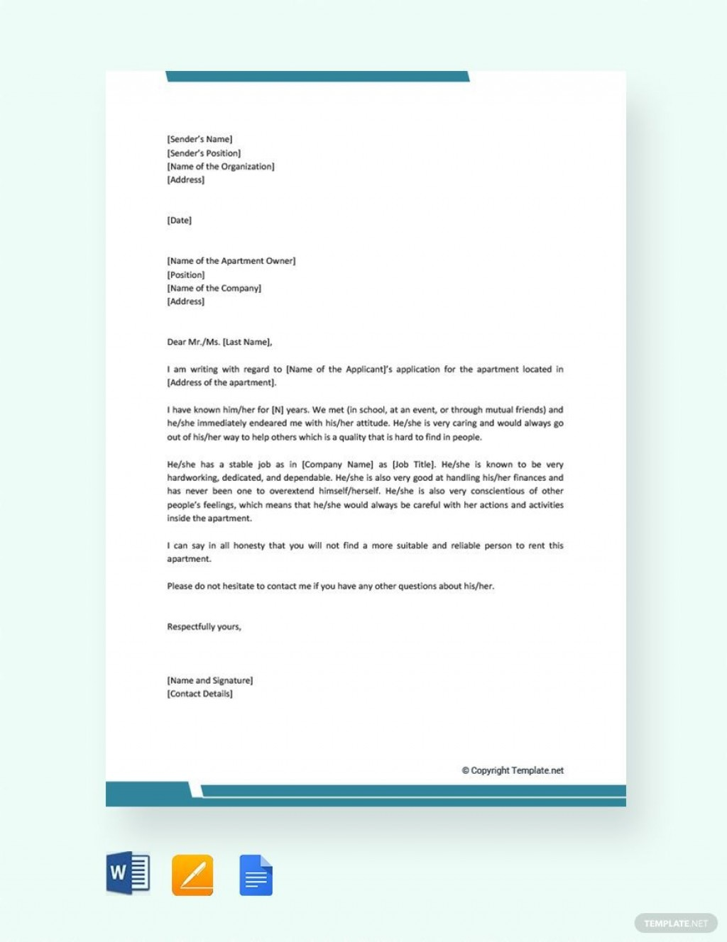 004 Stirring Free Reference Letter Template Word Image  For Employment PersonalLarge