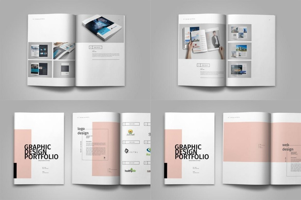 004 Stirring In Design Portfolio Template Highest Quality  Free Indesign A3 Photography Graphic Download960