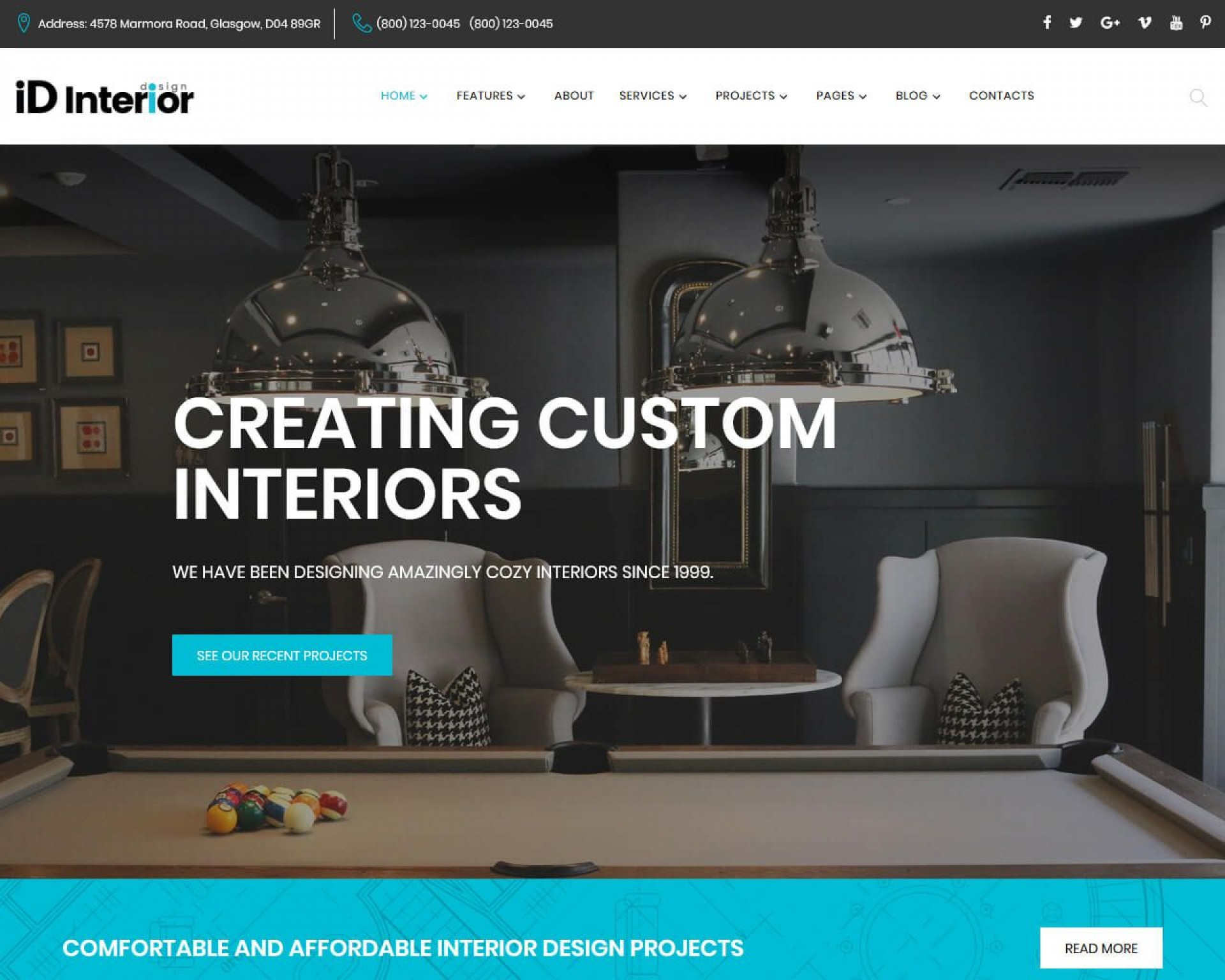 004 Stirring Interior Design Website Template Picture  Templates Company Free Download Html1920