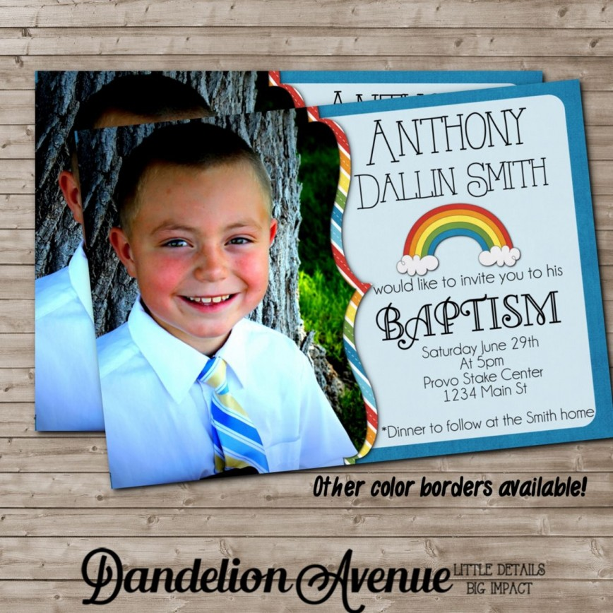 004 Stirring Ld Baptism Invitation Template Design
