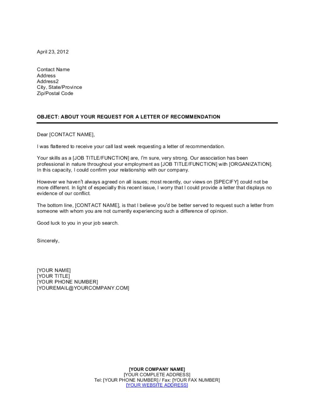 004 Stirring Letter Or Recommendation Template Image  Of For Scholarship From Teacher Reference Employee AideFull