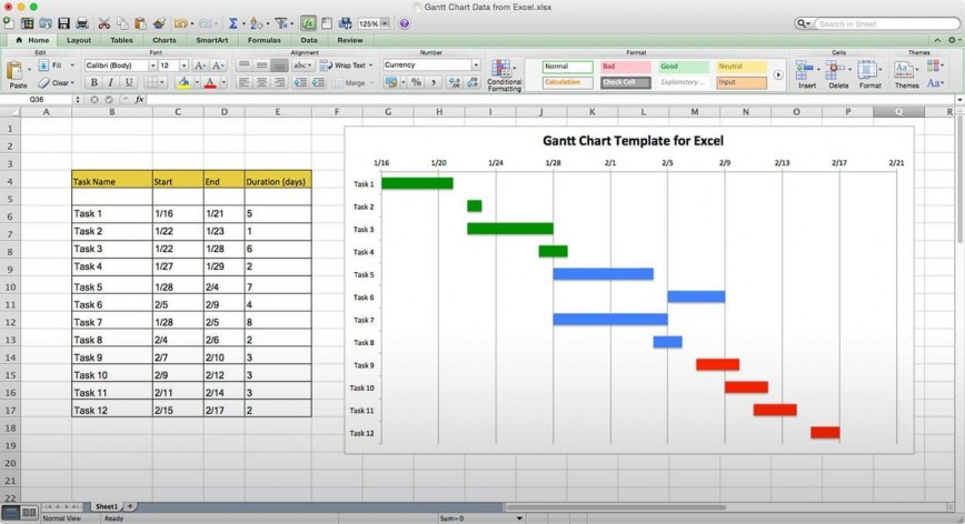 004 Stirring Microsoft Excel Gantt Chart Template Inspiration  M Download