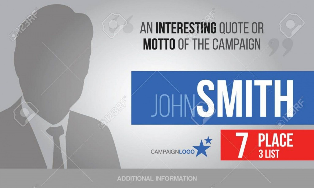004 Stirring Online Campaign Poster Maker Free Example  ElectionLarge