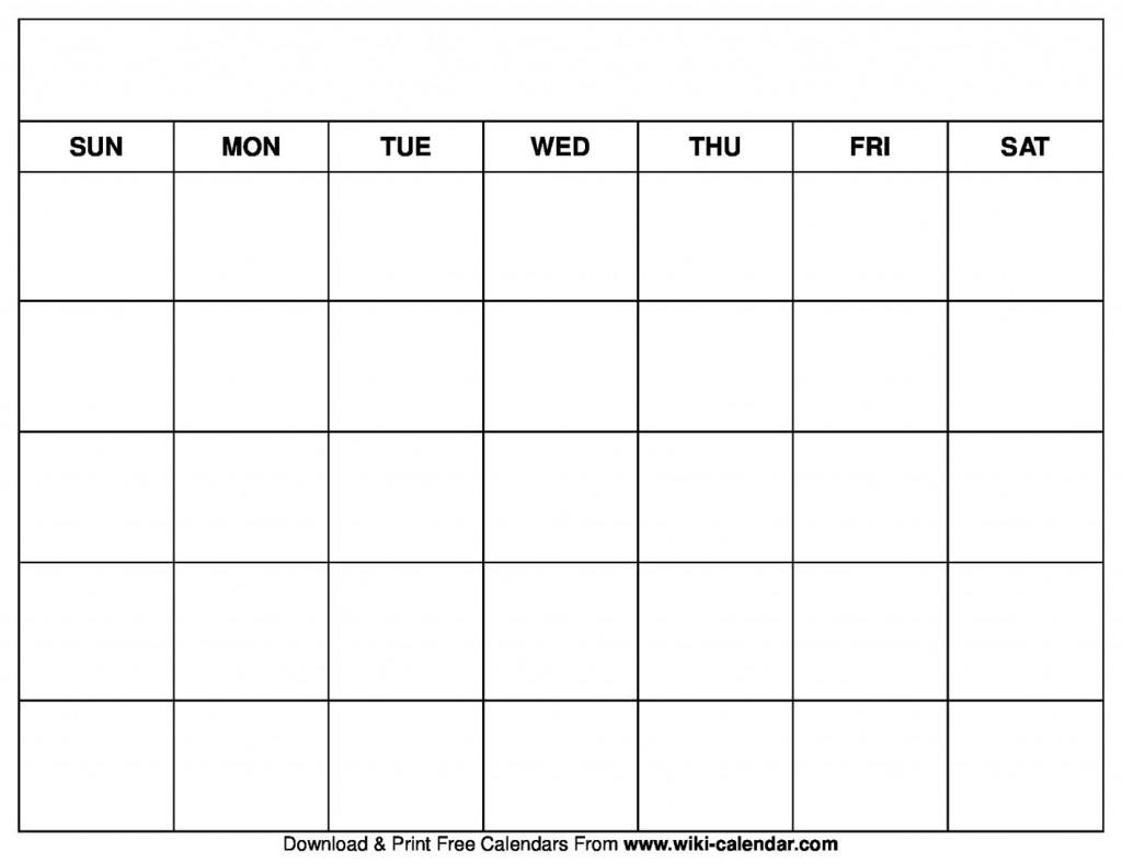 004 Stirring Printable Blank Monthly Calendar Template Sample  PdfLarge
