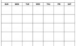 004 Stirring Printable Blank Monthly Calendar Template Sample  Pdf