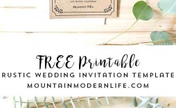 004 Stirring Rustic Wedding Invitation Template Photo  Templates Free For Word Maker Photoshop