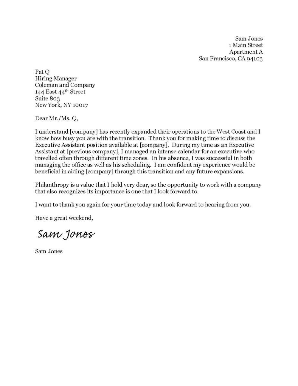 004 Stirring Thank You Note Template Interview High Def  Letter Sample After Example Job ResidencyFull
