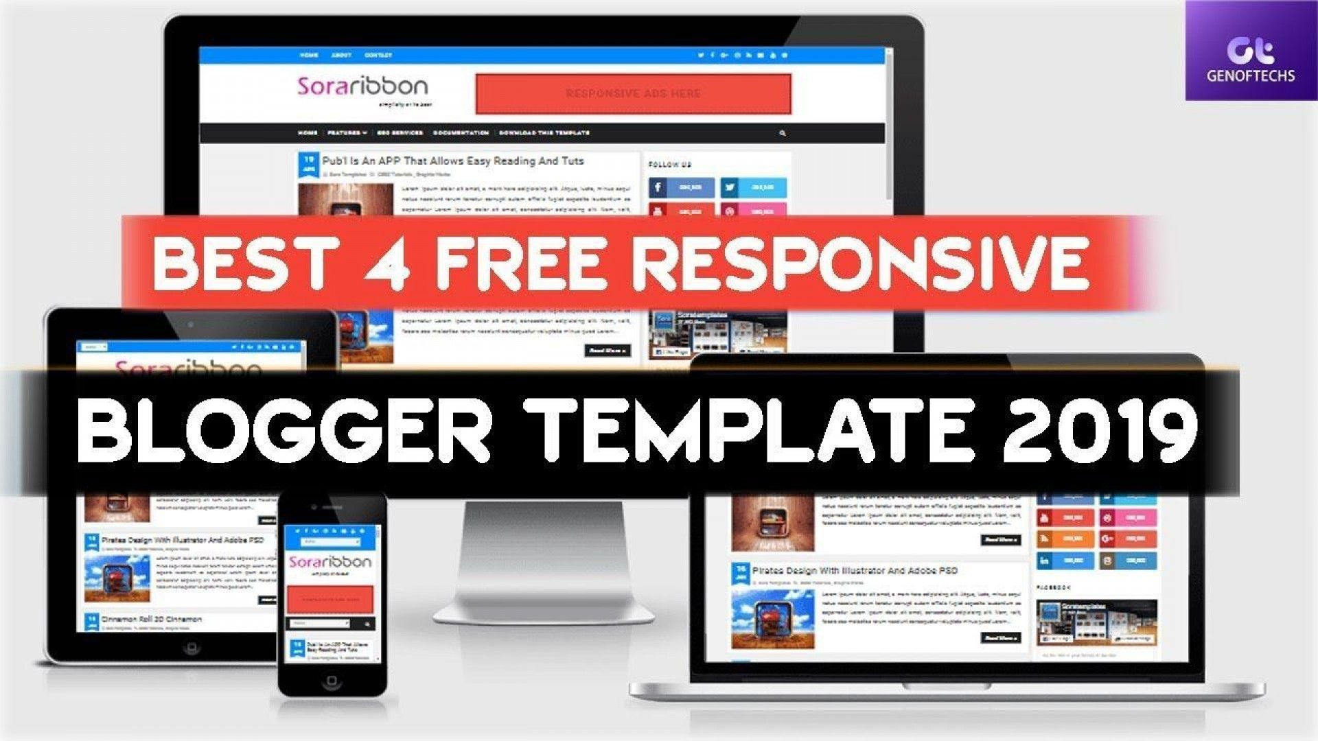 004 Striking Best Free Responsive Blogger Template Concept  2019 Mobile Friendly Top1920