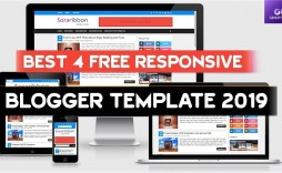 004 Striking Best Free Responsive Blogger Template Concept  2019 Mobile Friendly Top
