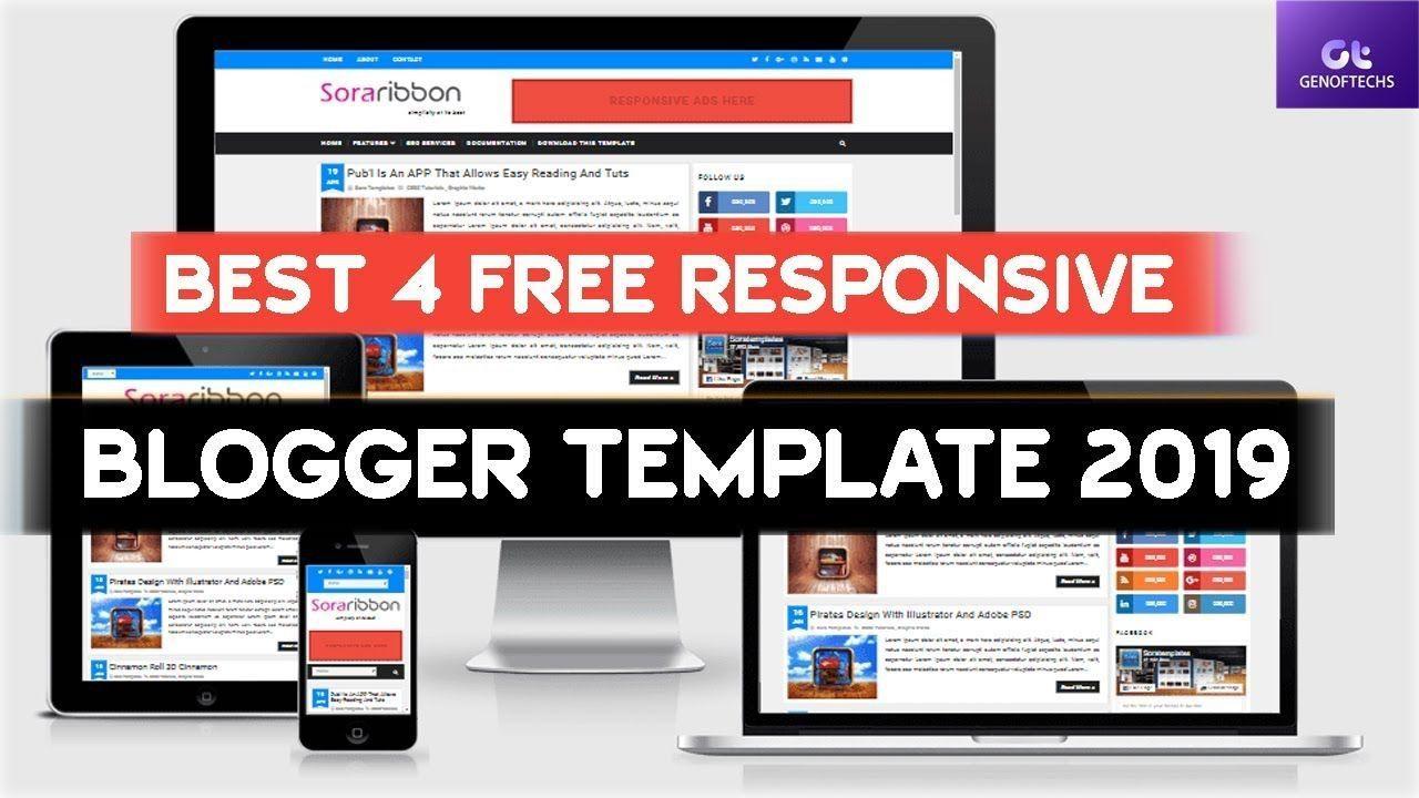 004 Striking Best Free Responsive Blogger Template Concept  2019 Mobile Friendly TopFull
