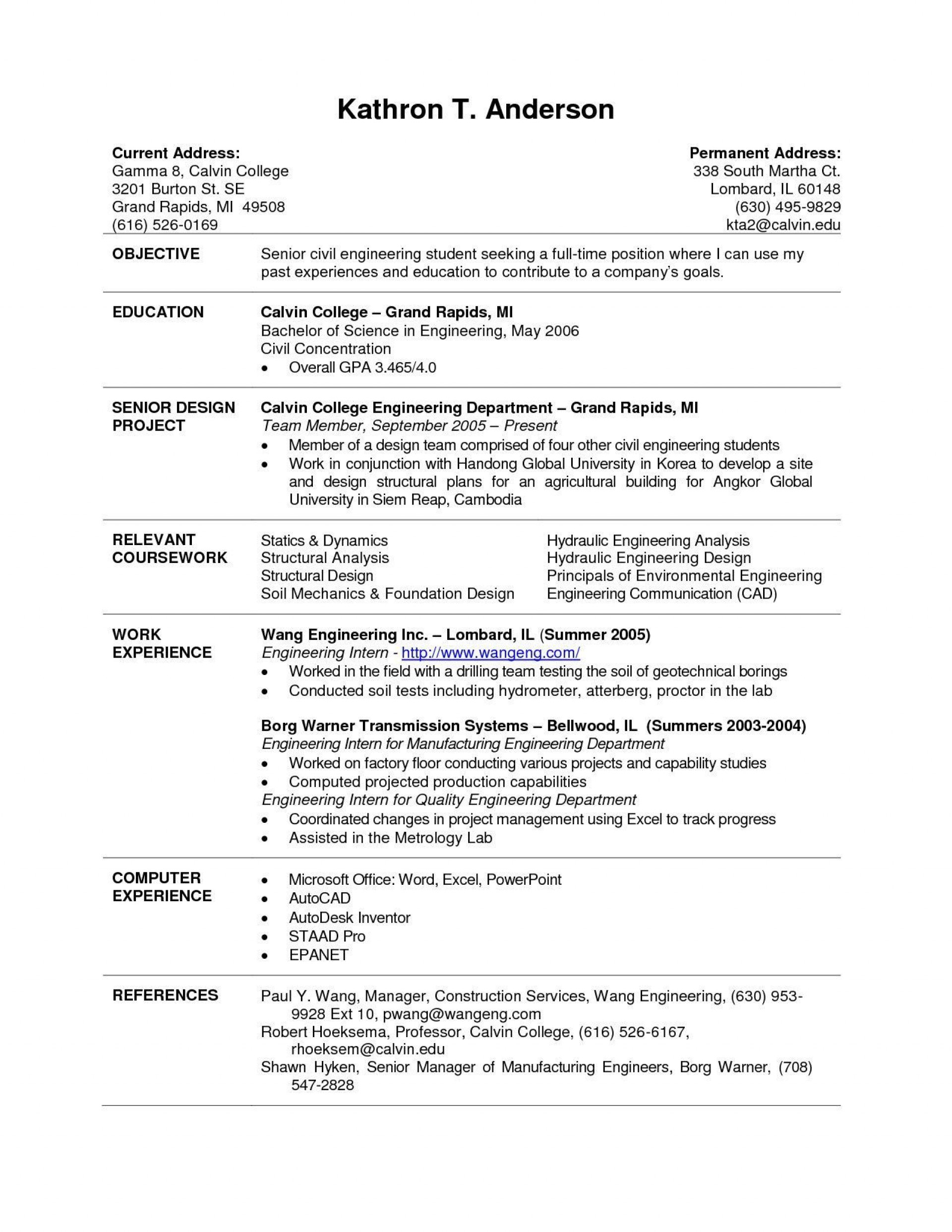 004 Striking Current College Student Resume Template Highest Quality 1920