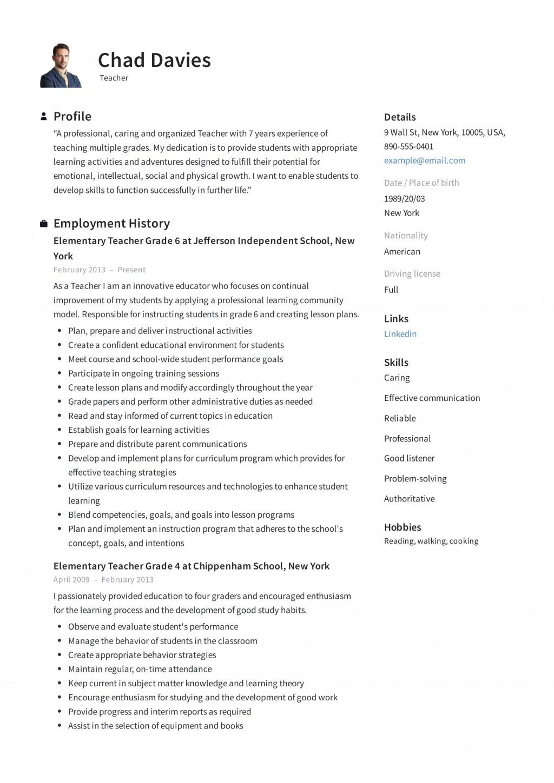 004 Striking Cv Template For Teaching Design  Sample Teacher Assistant Modern Word Free Download JobLarge