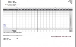 004 Striking Employee Monthly Time Card Template Photo