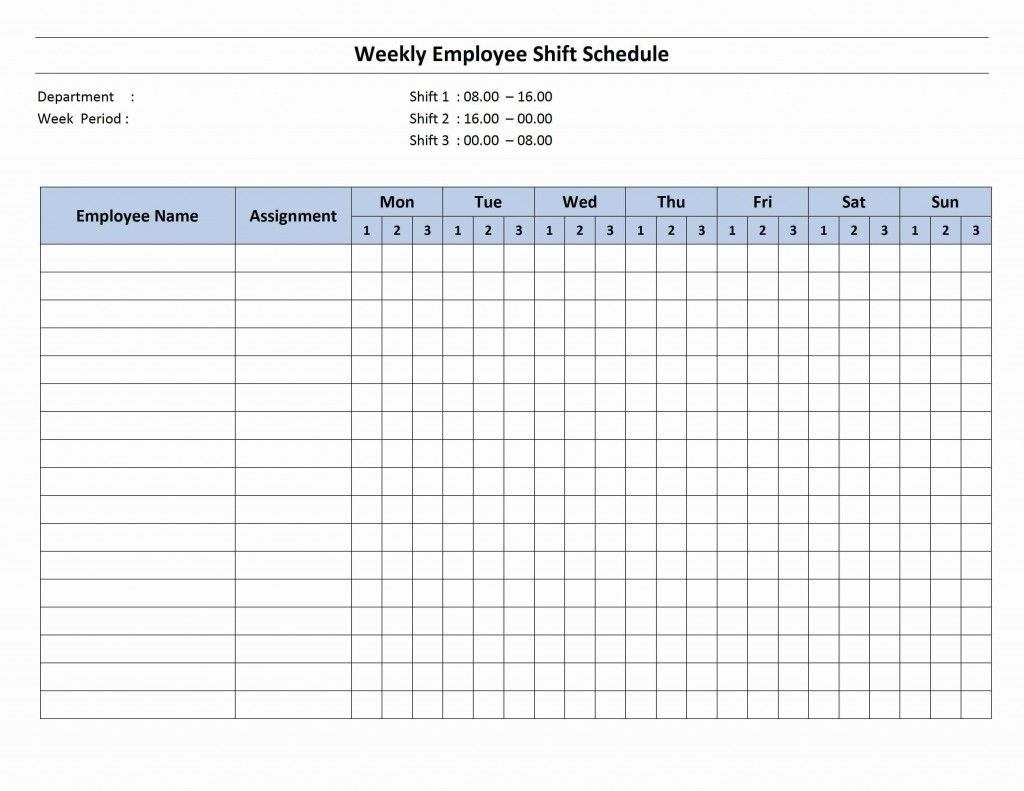 004 Striking Employee Schedule Template Free Image  Downloadable Weekly Work Training Excel ShiftLarge