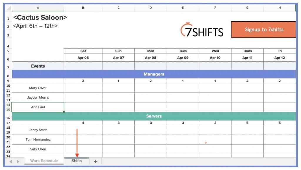 004 Striking Employee Shift Scheduling Template Photo  Schedule Google Sheet Work Plan Word Weekly Excel FreeLarge