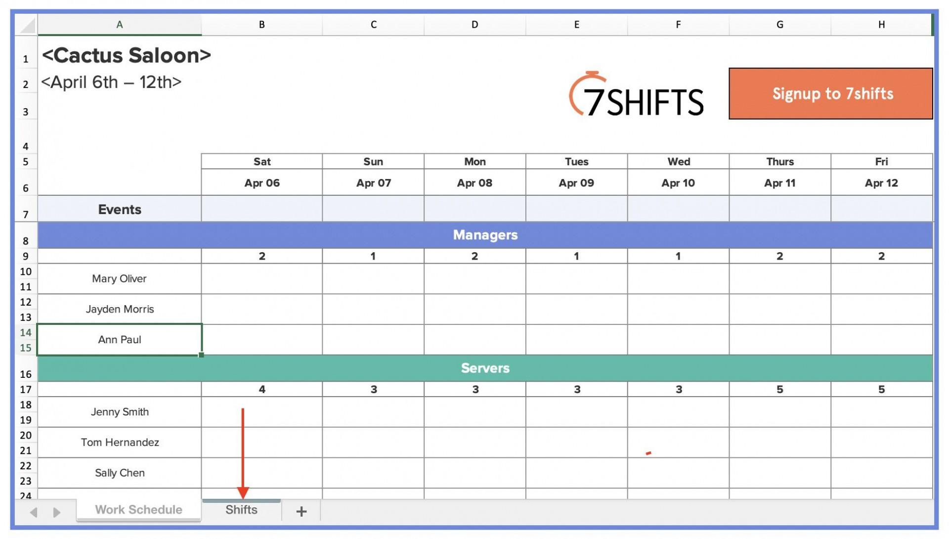 004 Striking Employee Shift Scheduling Template Photo  Schedule Google Sheet Work Plan Word Weekly Excel Free1920