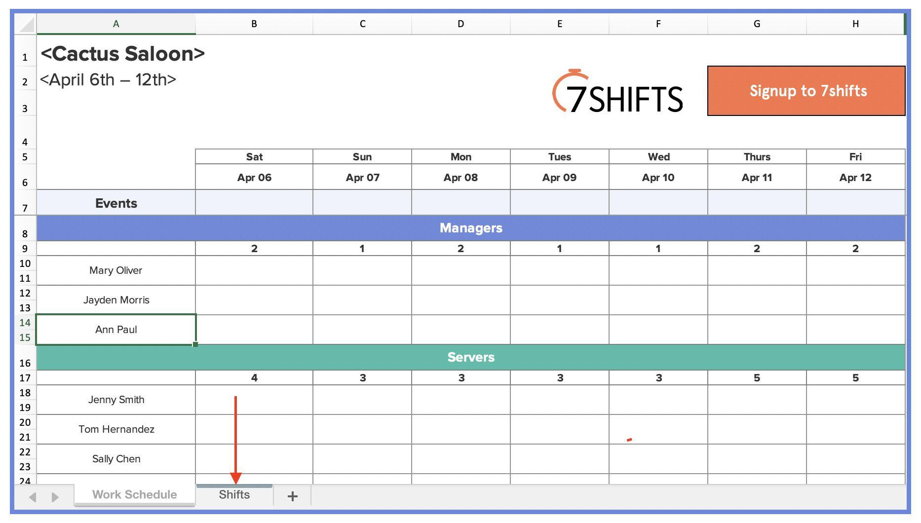 004 Striking Employee Shift Scheduling Template Photo  Schedule Google Sheet Work Plan Word Weekly Excel FreeFull