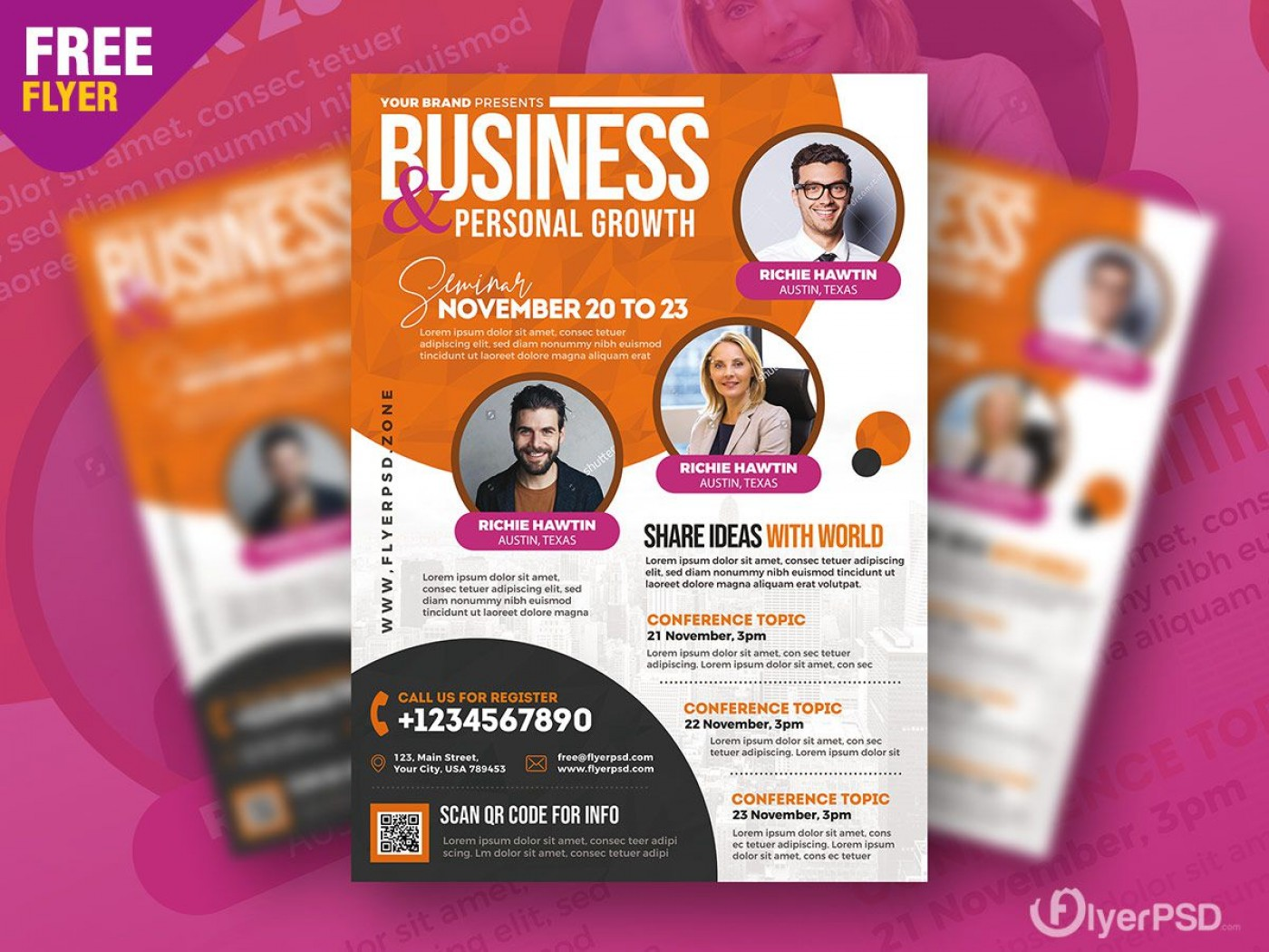 004 Striking Event Flyer Template Free Psd Idea  Music Boxing1400