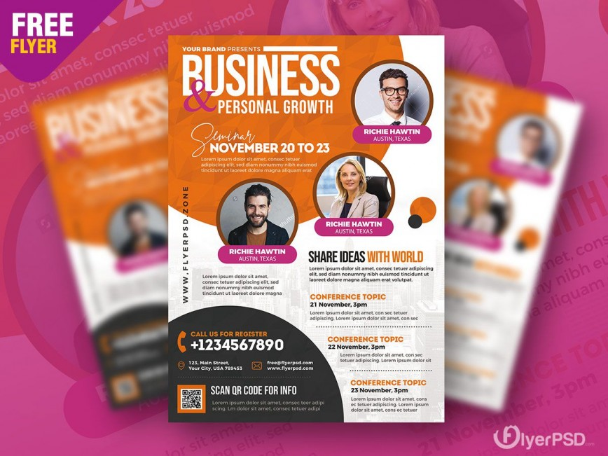 004 Striking Event Flyer Template Free Psd Idea  Music Boxing868