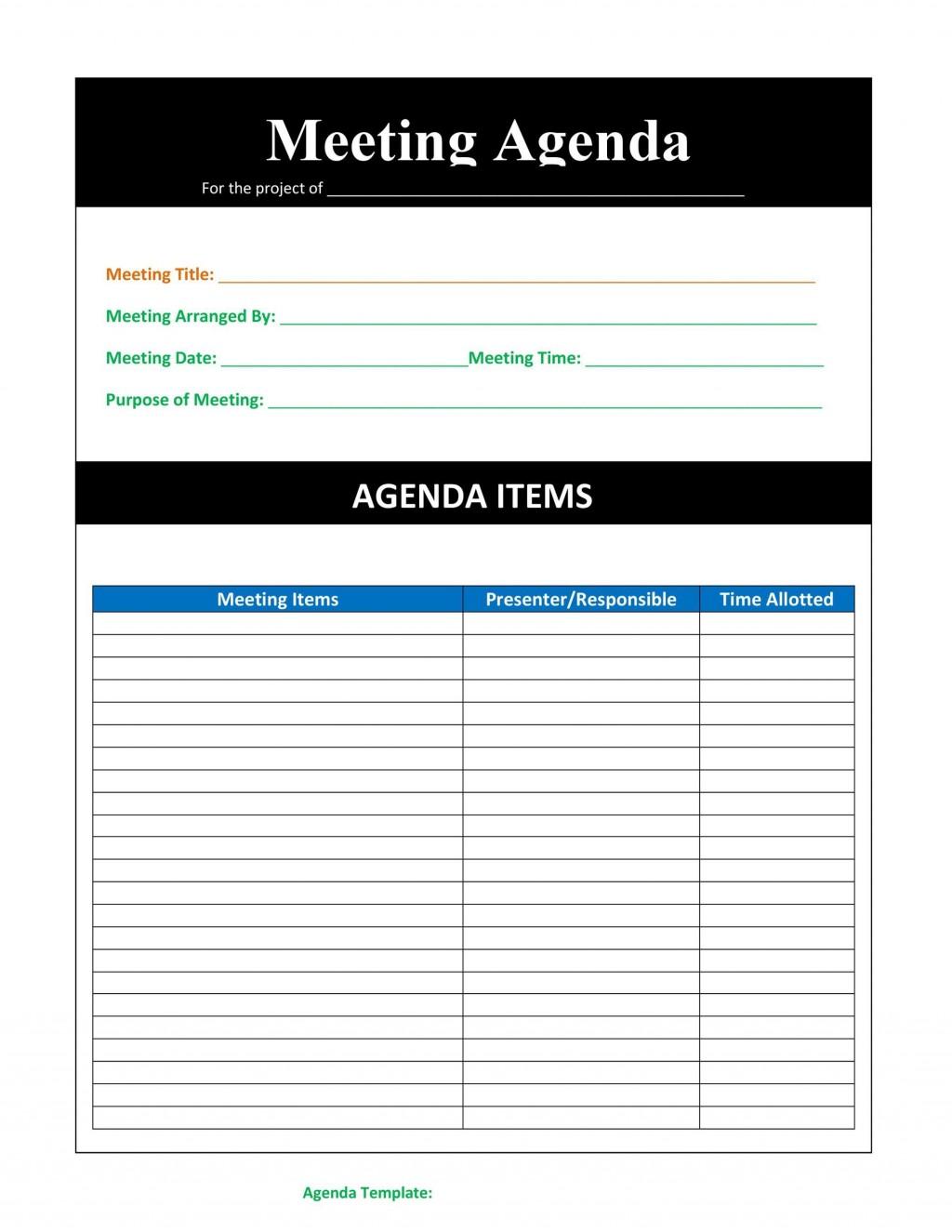 004 Striking Formal Meeting Agenda Template Excel Sample Large