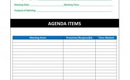 004 Striking Formal Meeting Agenda Template Excel Sample