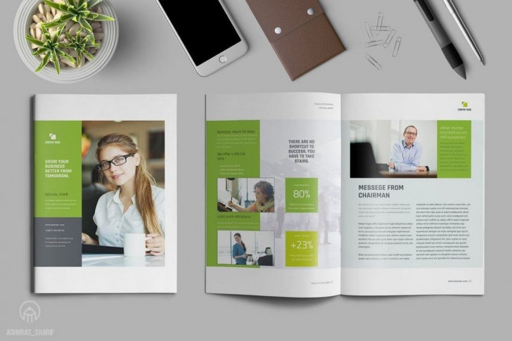 004 Striking Free Annual Report Template Indesign High Definition  Adobe Non Profit728
