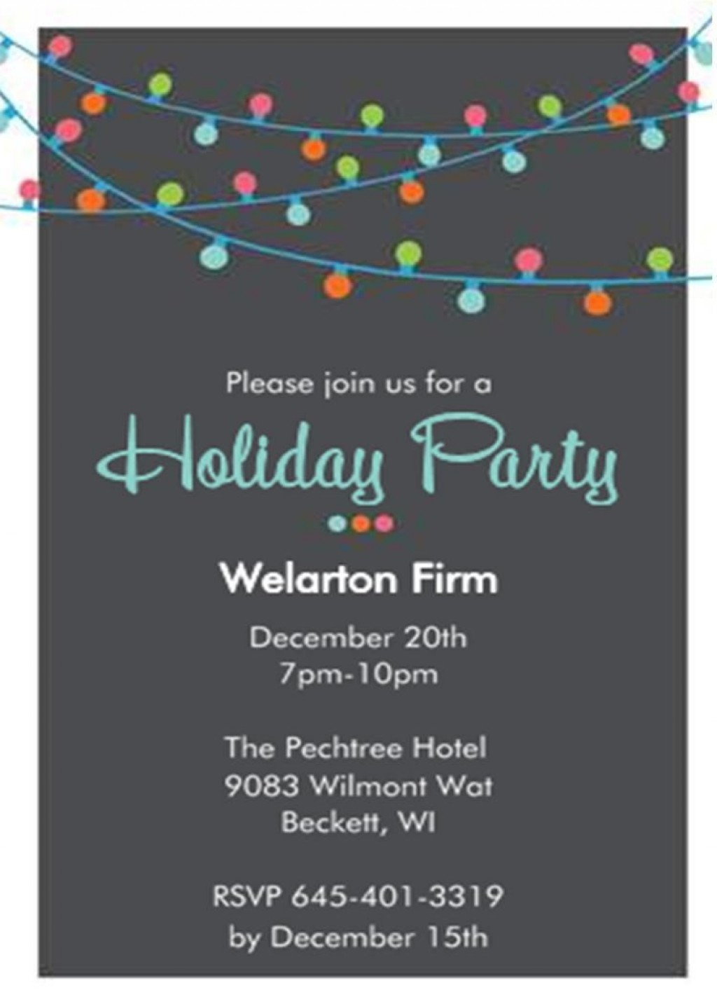 004 Striking Free Busines Holiday Party Invitation Template Concept  Templates Printable OfficeLarge