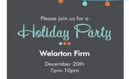 004 Striking Free Busines Holiday Party Invitation Template Concept  Templates Printable Office