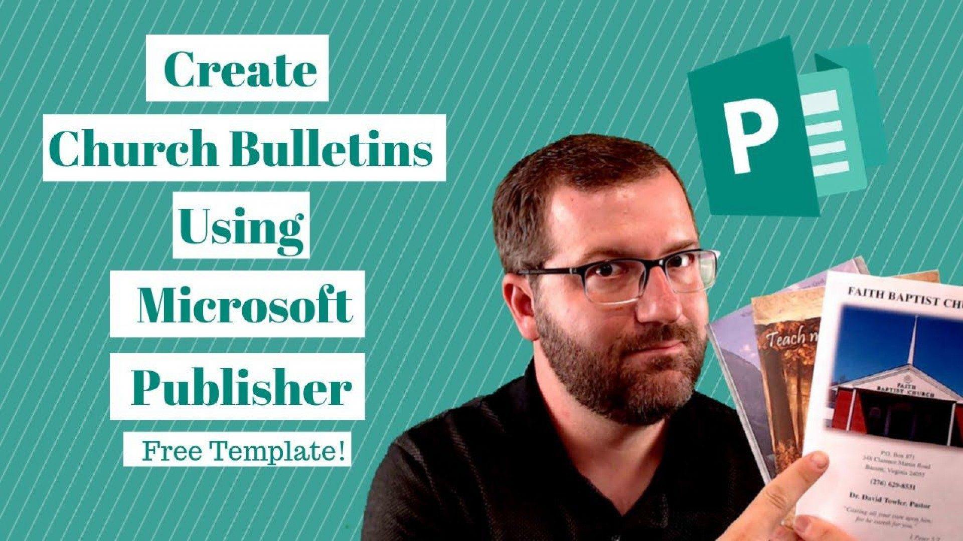 004 Striking Free Church Program Template Microsoft Publisher High Definition Full