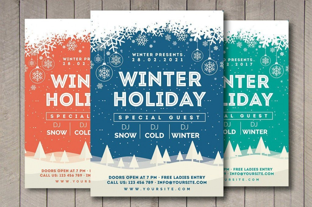 004 Striking Free Holiday Flyer Template Concept  Templates For Word Printable ChristmaLarge
