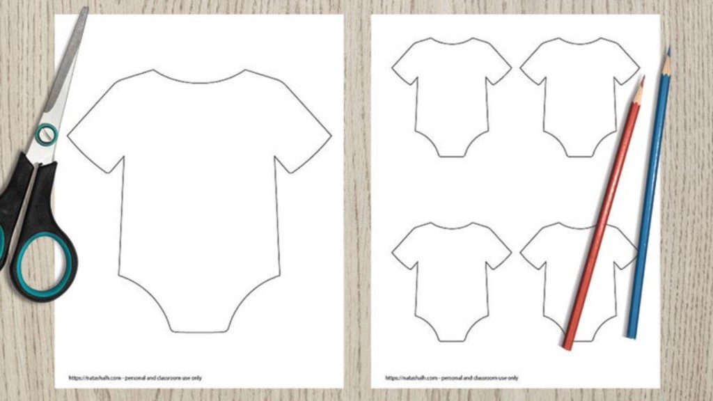 004 Striking Free Printable Baby Onesie Template Highest Clarity  Card GirlLarge
