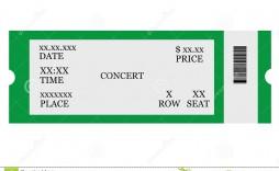 004 Striking Free Printable Ticket Stub Template Photo