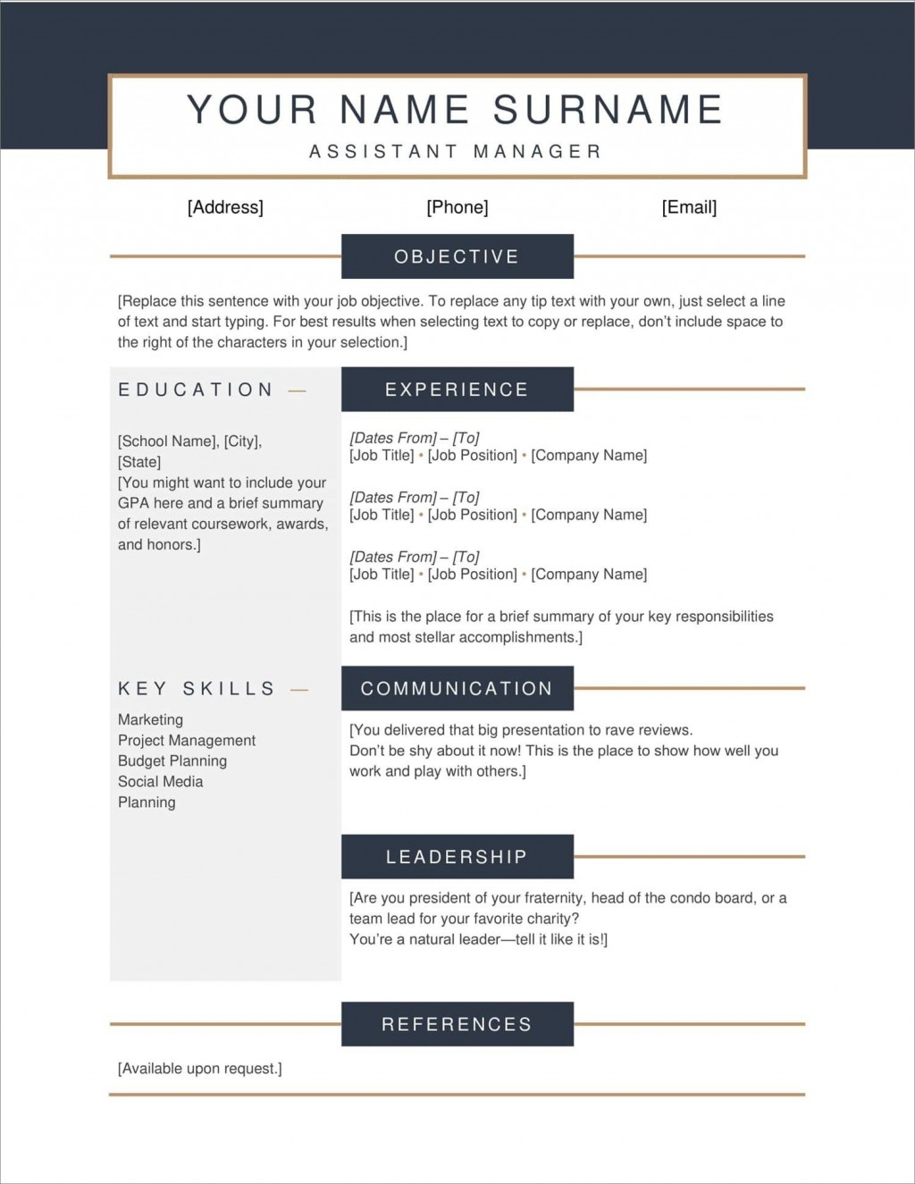 004 Striking Free Resume Template Pdf Sample  Student Format Download WordLarge