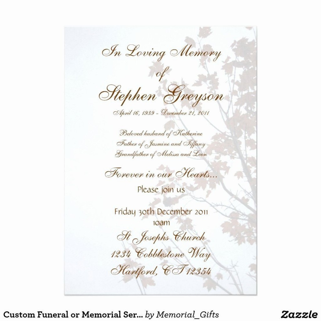 004 Striking Funeral Invitation Template Free High Def  Memorial Service Card ReceptionLarge