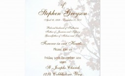 004 Striking Funeral Invitation Template Free High Def  Memorial Service Card Reception