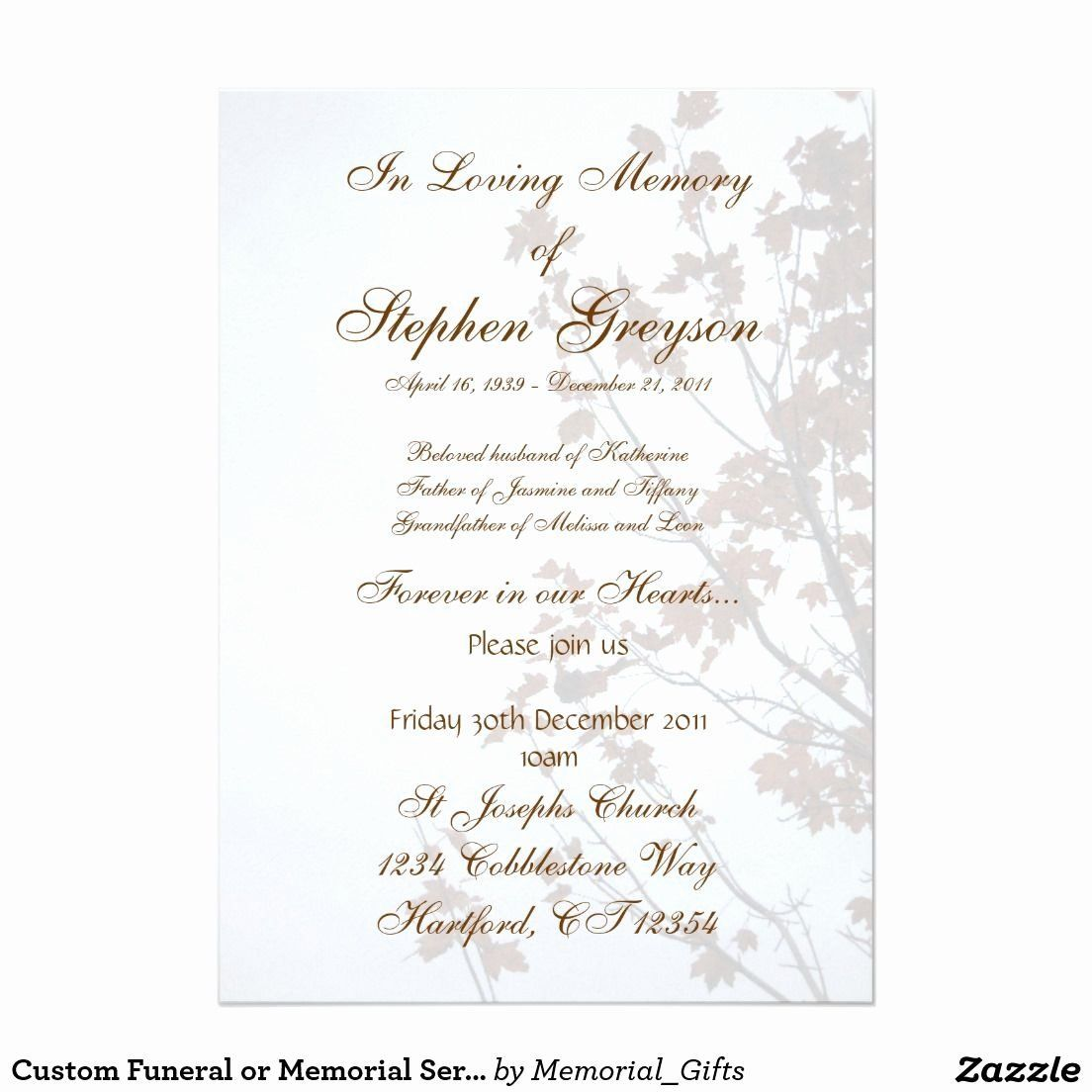004 Striking Funeral Invitation Template Free High Def  Memorial Service Card ReceptionFull