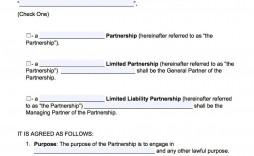 004 Striking General Partnership Agreement Template Photo  Word Canada Sample Free
