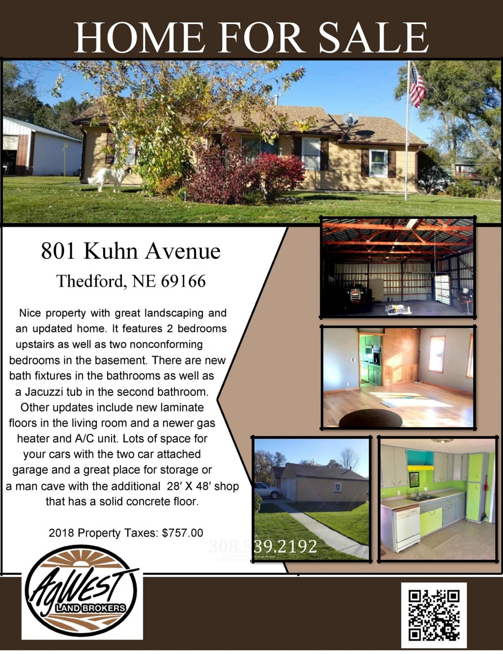004 Striking House For Sale Flyer Template Sample  Free Real Estate Example By OwnerLarge