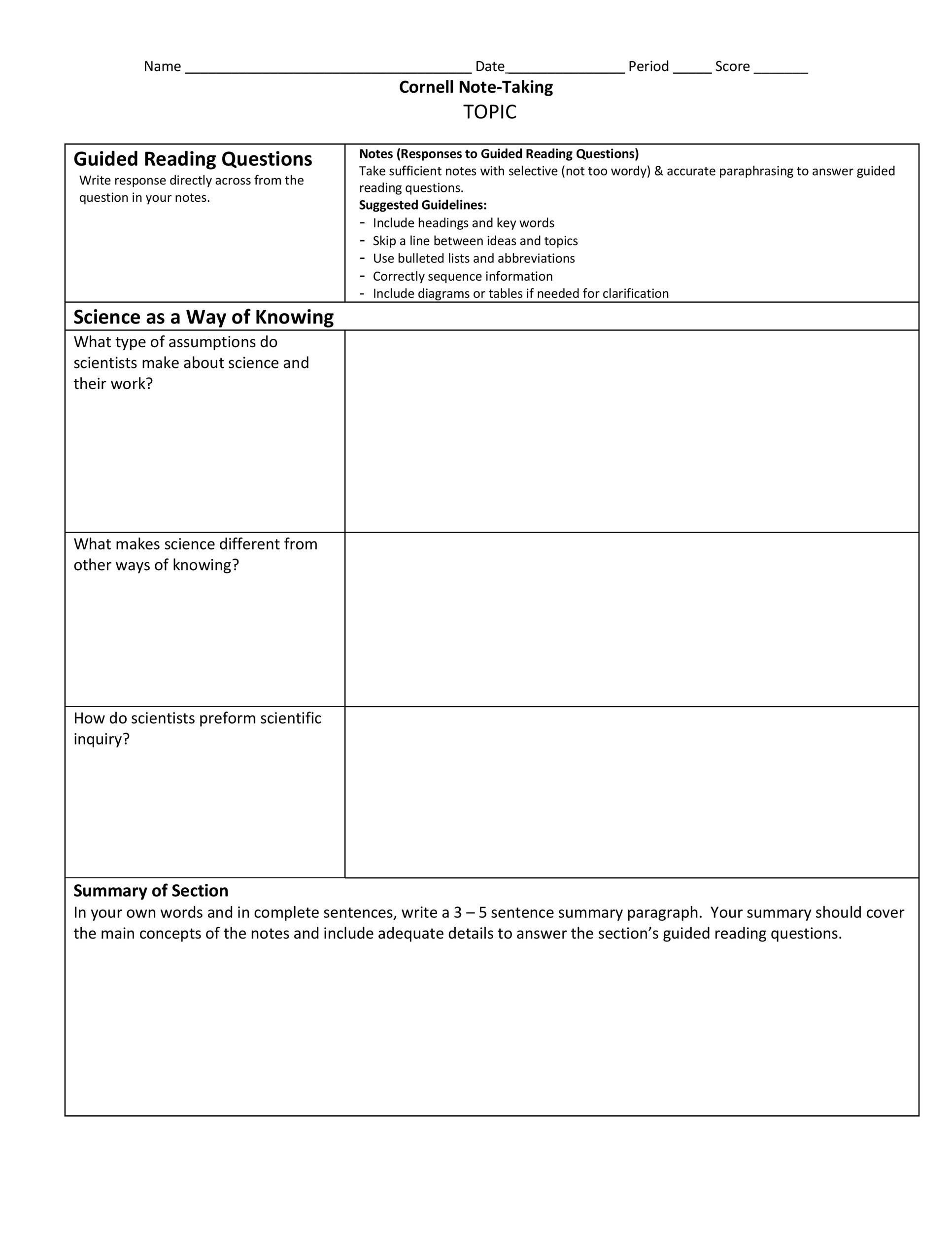 004 Striking Law School Note Taking Template Picture Full