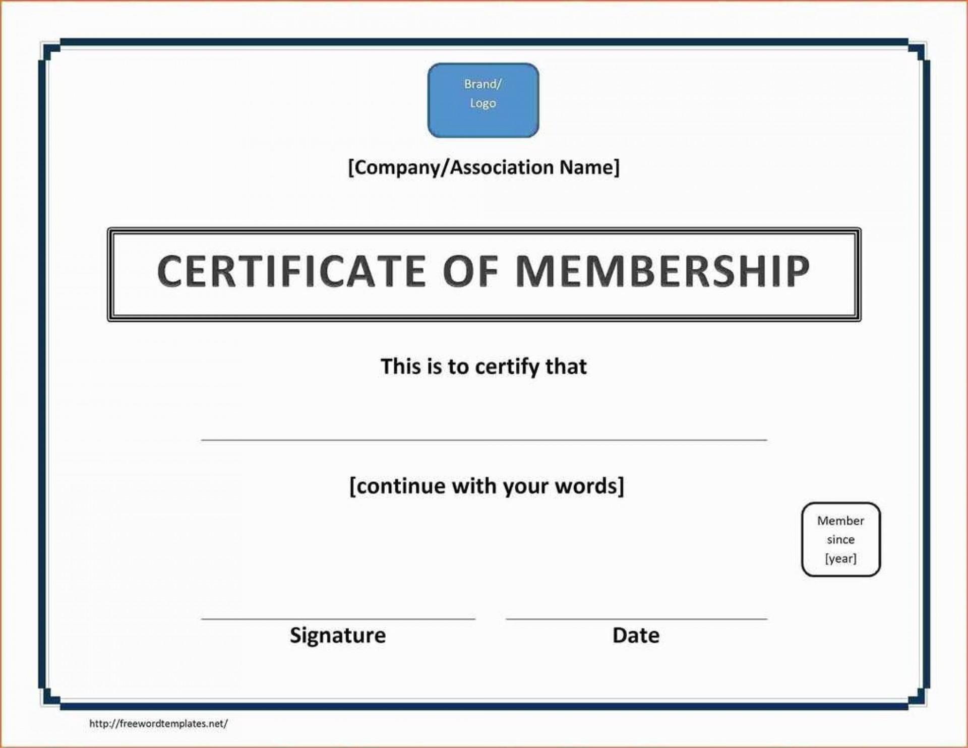 004 Striking Llc Membership Certificate Template Design  Interest Free Member1920