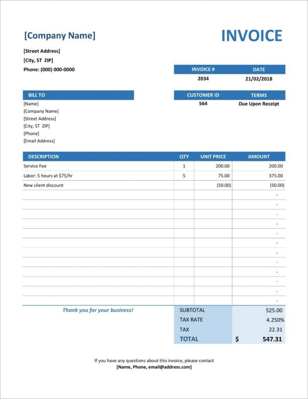 004 Striking Microsoft Excel Invoice Template Image  Gst Uk ProformaLarge