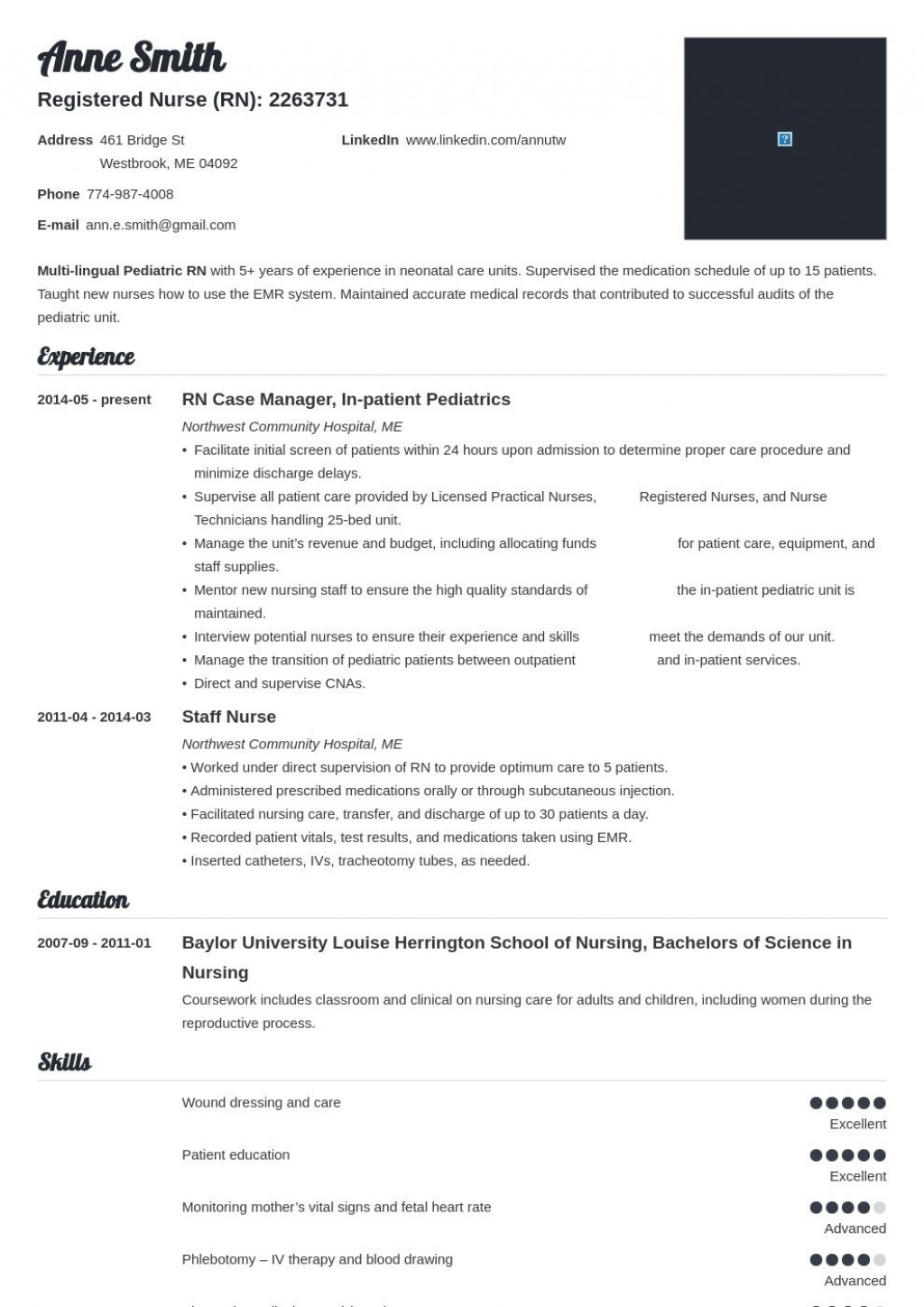 004 Striking Nurse Resume Template Free Design  Graduate RnLarge