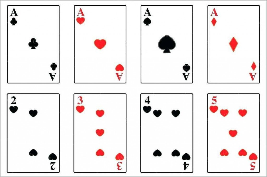 004 Striking Playing Card Template Word Picture  Microsoft FreeLarge