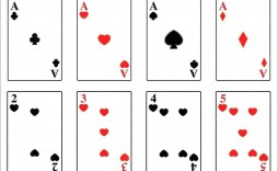 004 Striking Playing Card Template Word Picture  Microsoft Free