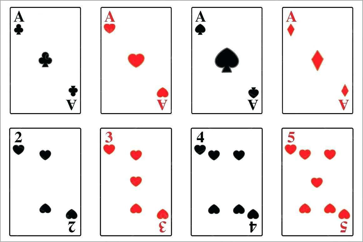 004 Striking Playing Card Template Word Picture  Microsoft FreeFull