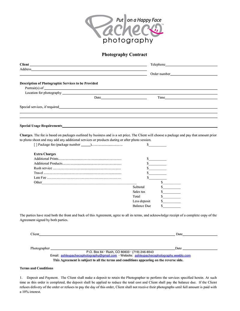 004 Striking Portrait Photography Contract Template Image  Pdf AustraliaFull