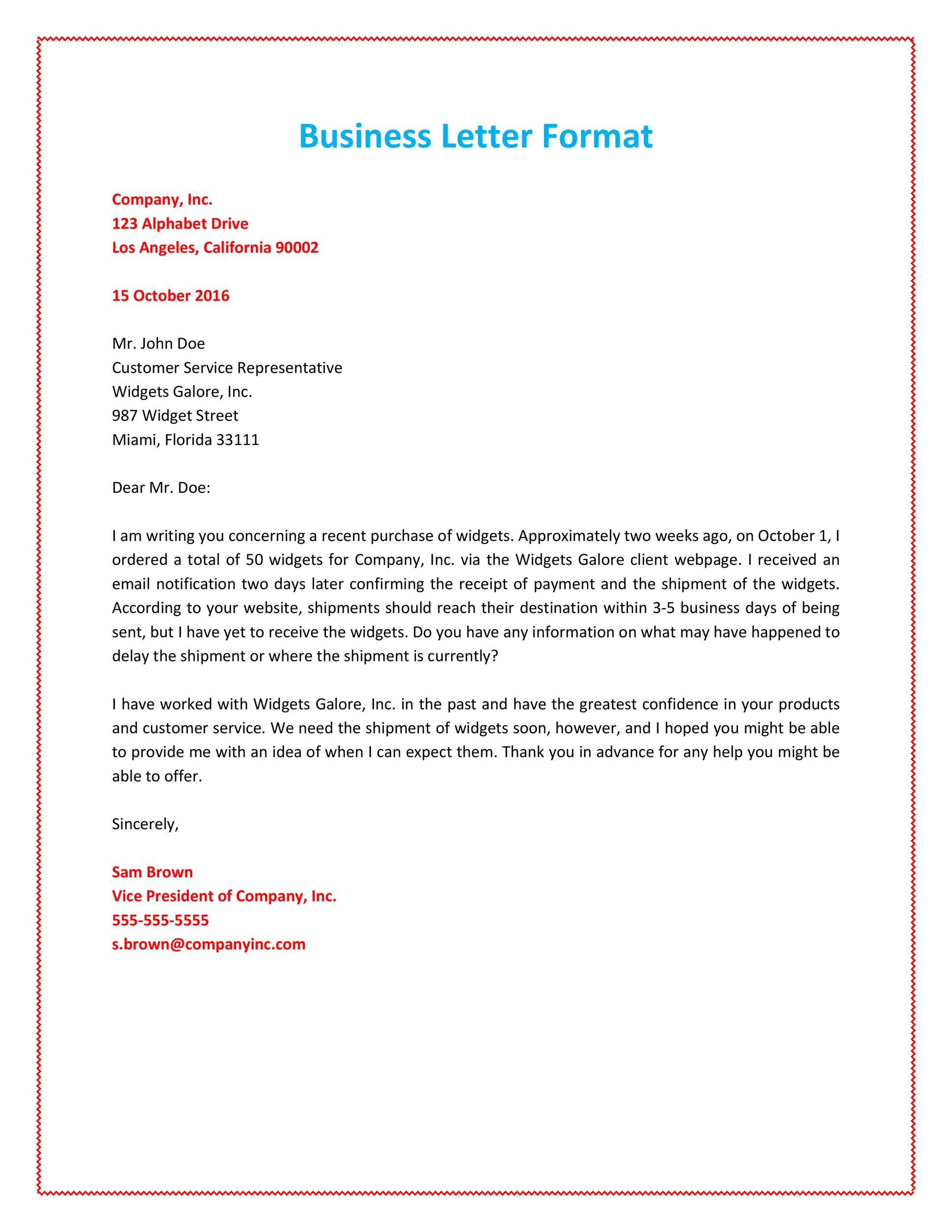 004 Striking Sample Busines Letter Template Photo  Of Intent Formal FreeFull