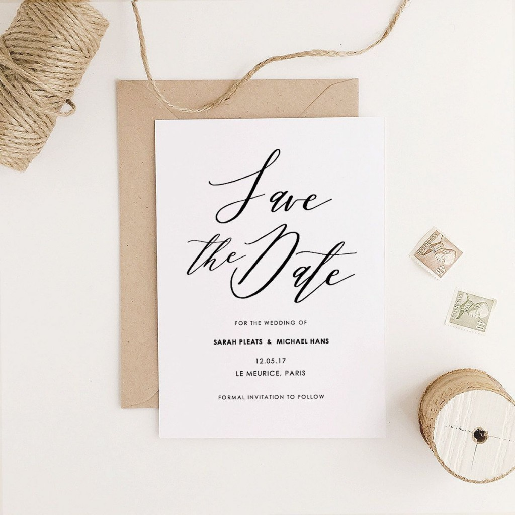 004 Striking Save The Date Template Word Highest Quality  Free Customizable For Holiday PartyLarge